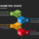 Four Box Isometric Shape Powerpoint Keynote template