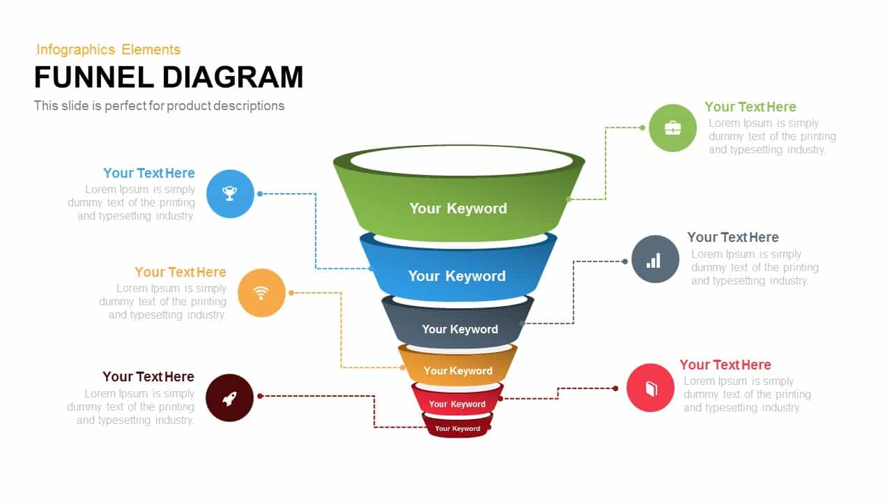 funnel diagram powerpoint and keynote template slidebazaar
