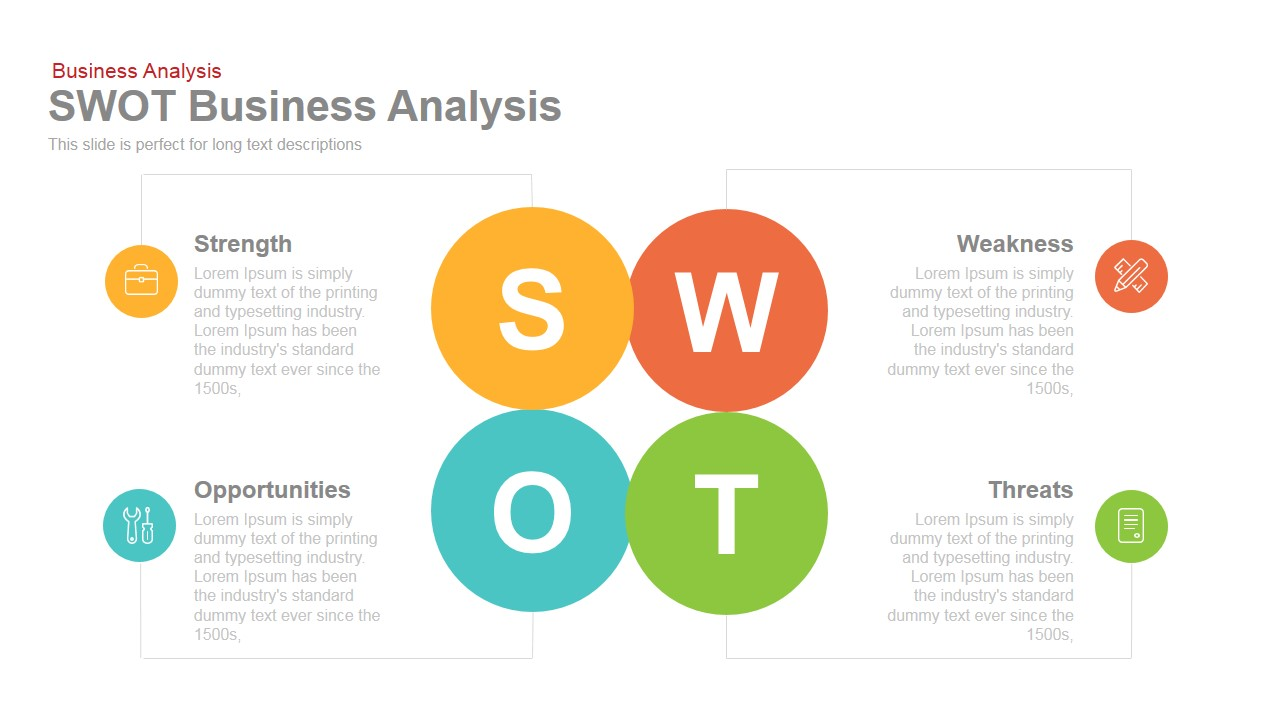 Swot business analysis powerpoint keynote template business swot analysis powerpoint template and keynote slide accmission Images