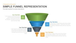 Simple Representation Funnel PowerPoint Template and Keynote Slide