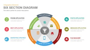 6 Section Diagram PowerPoint Template and Keynote Slide