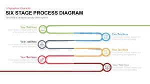 6 Stage Process Diagram PowerPoint Template and Keynote
