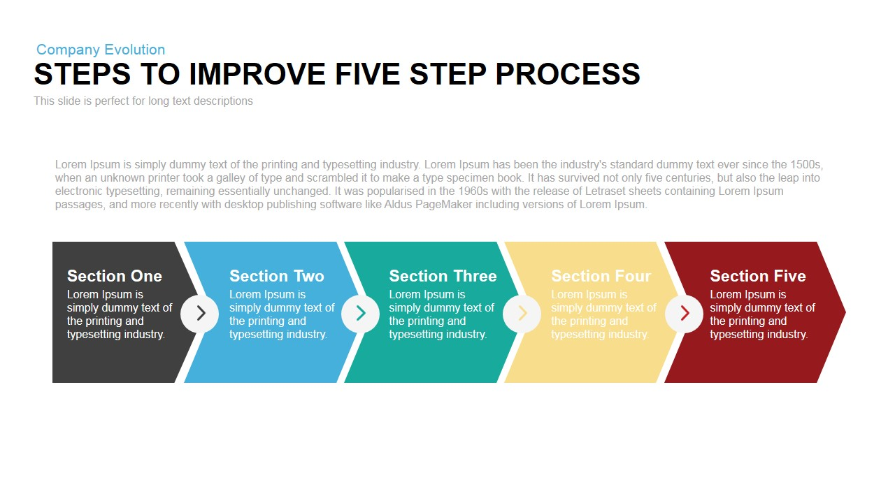 Steps to Process Improvement PowerPoint Template and Keynote