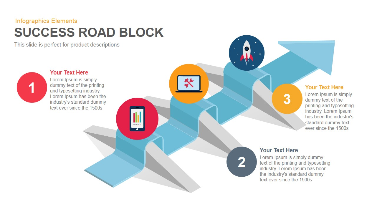 Success Roadblock PowerPoint Template and Keynote Slide