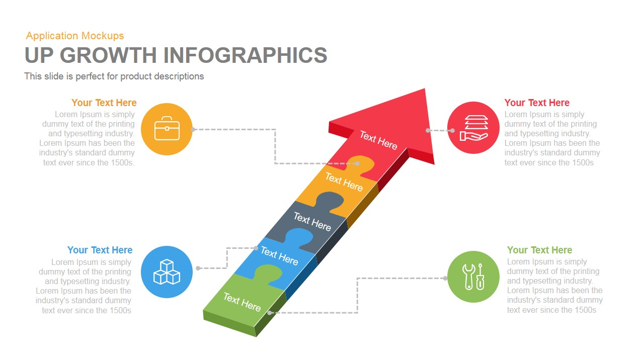 Up Growth Infographics Powerpoint Keynote template