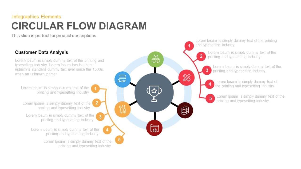 Circular flow diagram template for powerpoint and keynote ccuart Images