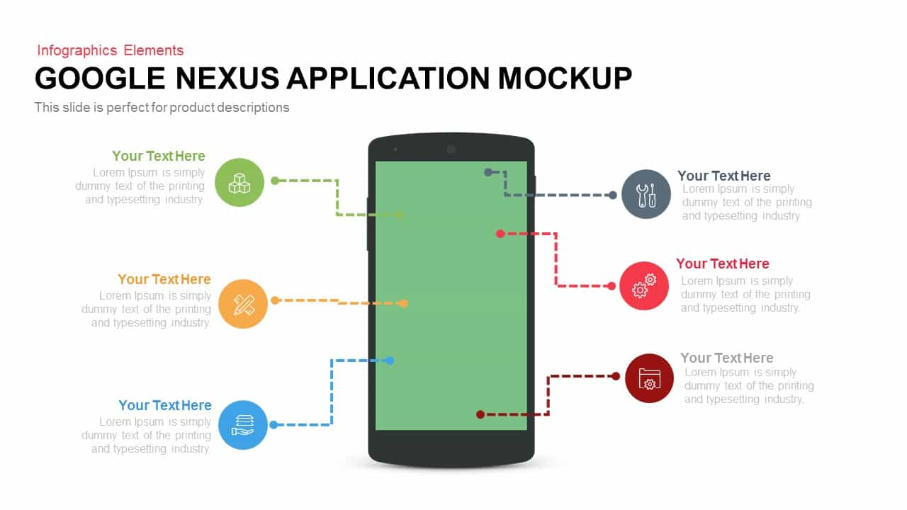 Google Nexus Application Mockup for PowerPoint