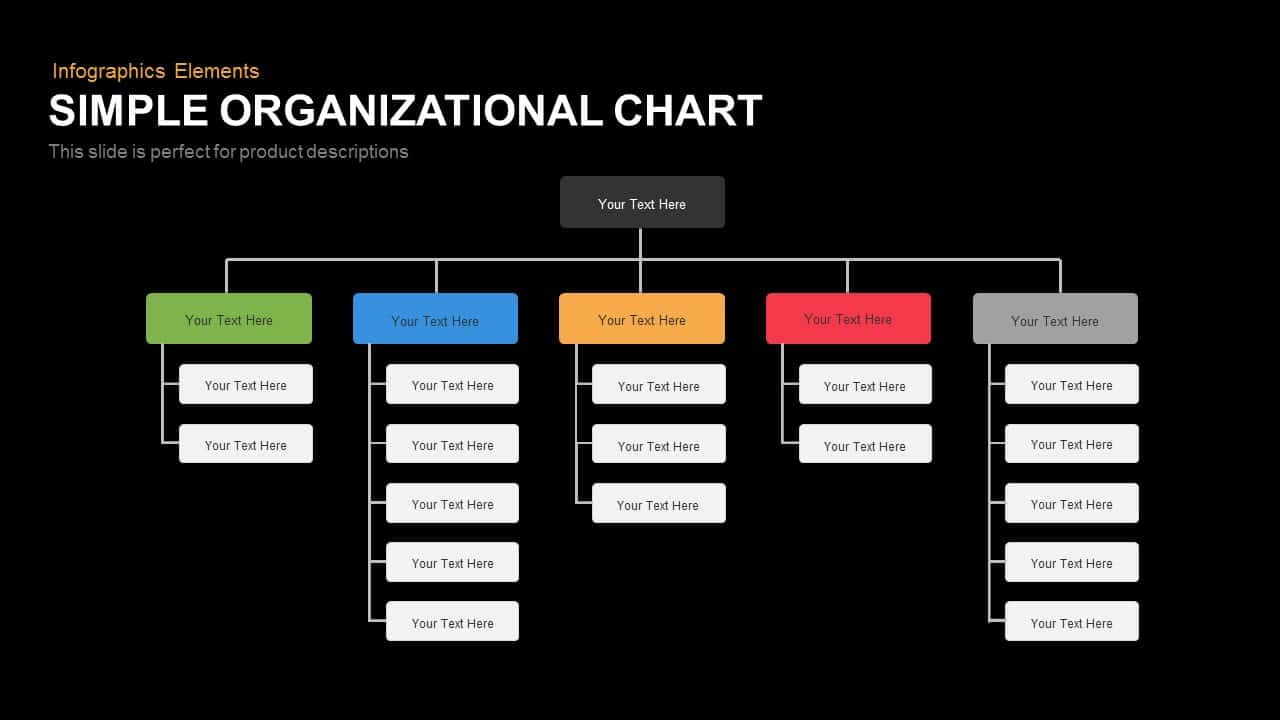 simple organizational chart powerpoint template keynote. Black Bedroom Furniture Sets. Home Design Ideas