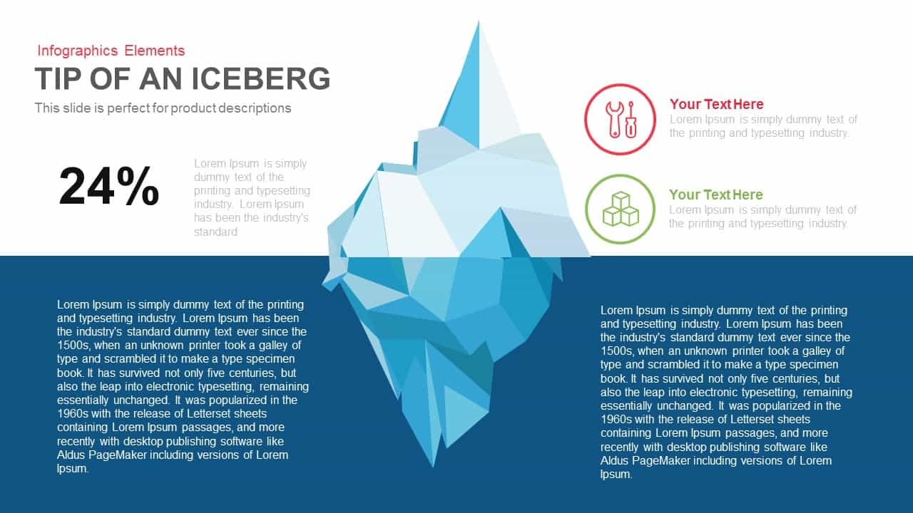 Tip Of An Iceberg Powerpoint Keynote Template SlideBazaar