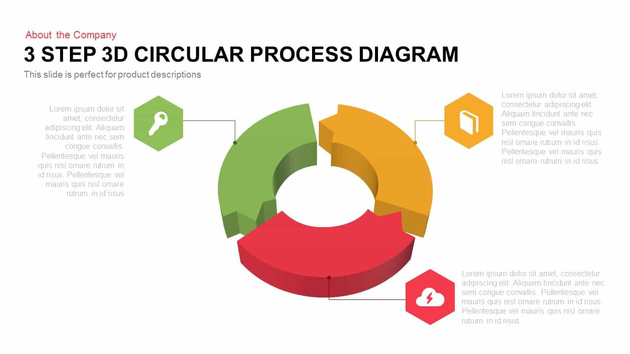 3 step 3d circular process diagram 1