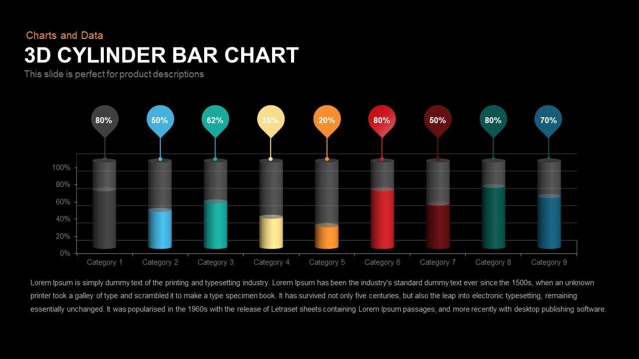 3d Cylinder Bar Chart
