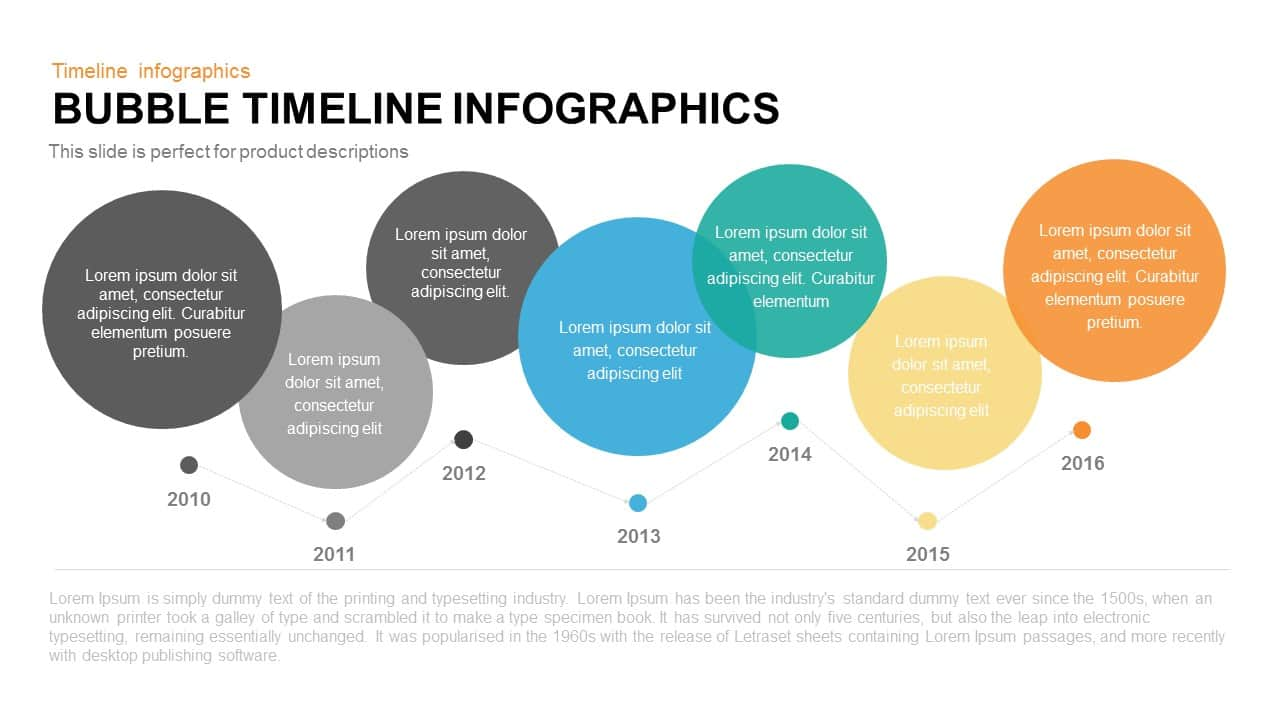 Bubble Timeline Infographics PowerPoint Template and Keynote Slide