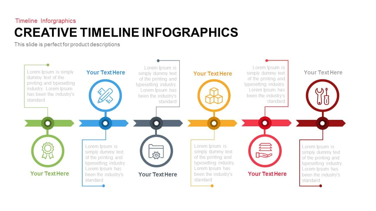 Creative timeline infographics powerpoint and keynote for Top product design companies