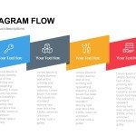 Ribbon Diagram Flow PowerPoint Template and Keynote Slide
