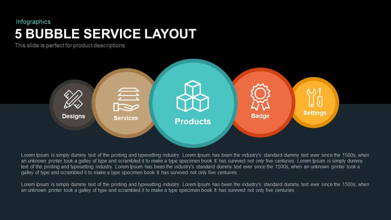 5 Bubble Service Layout