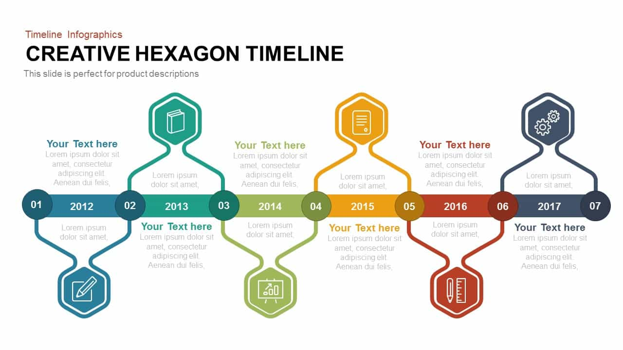 Creative Hexagon Timeline
