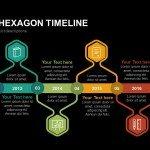 Creative Hexagon Timeline