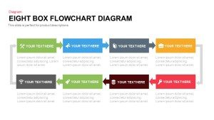 Eight Box Flow Chart Diagram Template for PowerPoint and Keynote