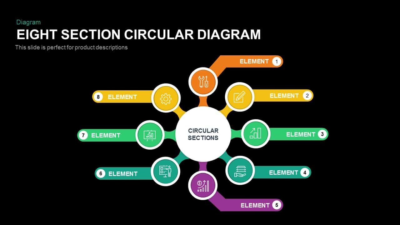 8 Section Circular Diagram PowerPoint Template and Keynote Slide