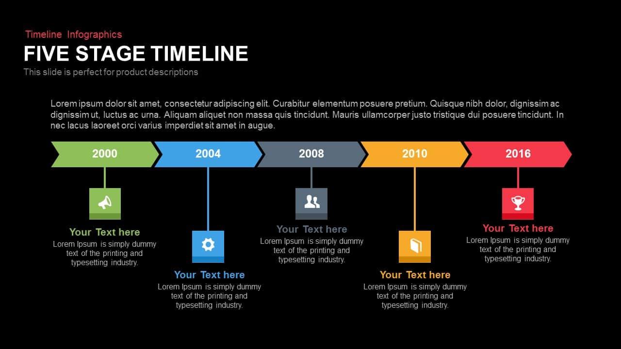 stage timeline powerpoint template and keynote slide slidebazaar. Black Bedroom Furniture Sets. Home Design Ideas