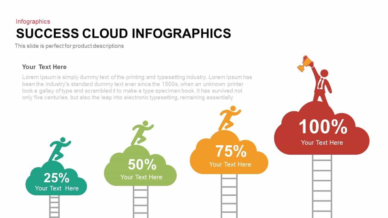 Success Cloud Infographics PowerPoint Template and Keynote Slide