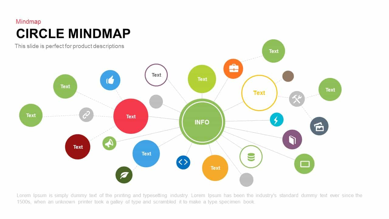circle mind map template for powerpoint and keynote