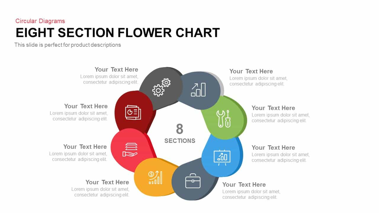 Eight Section Flower Chart