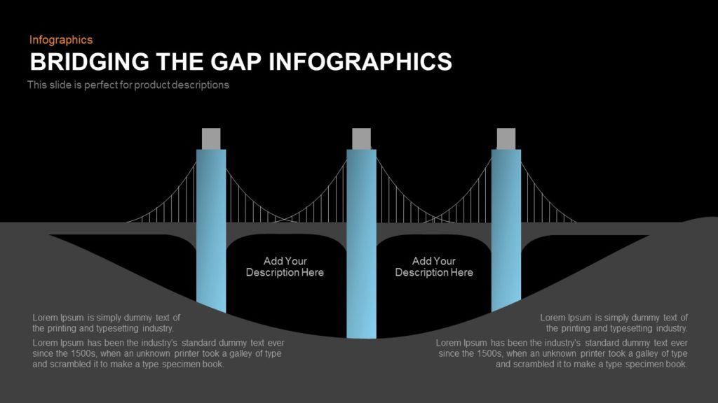 bridging the gap infographics powerpoint and keynote