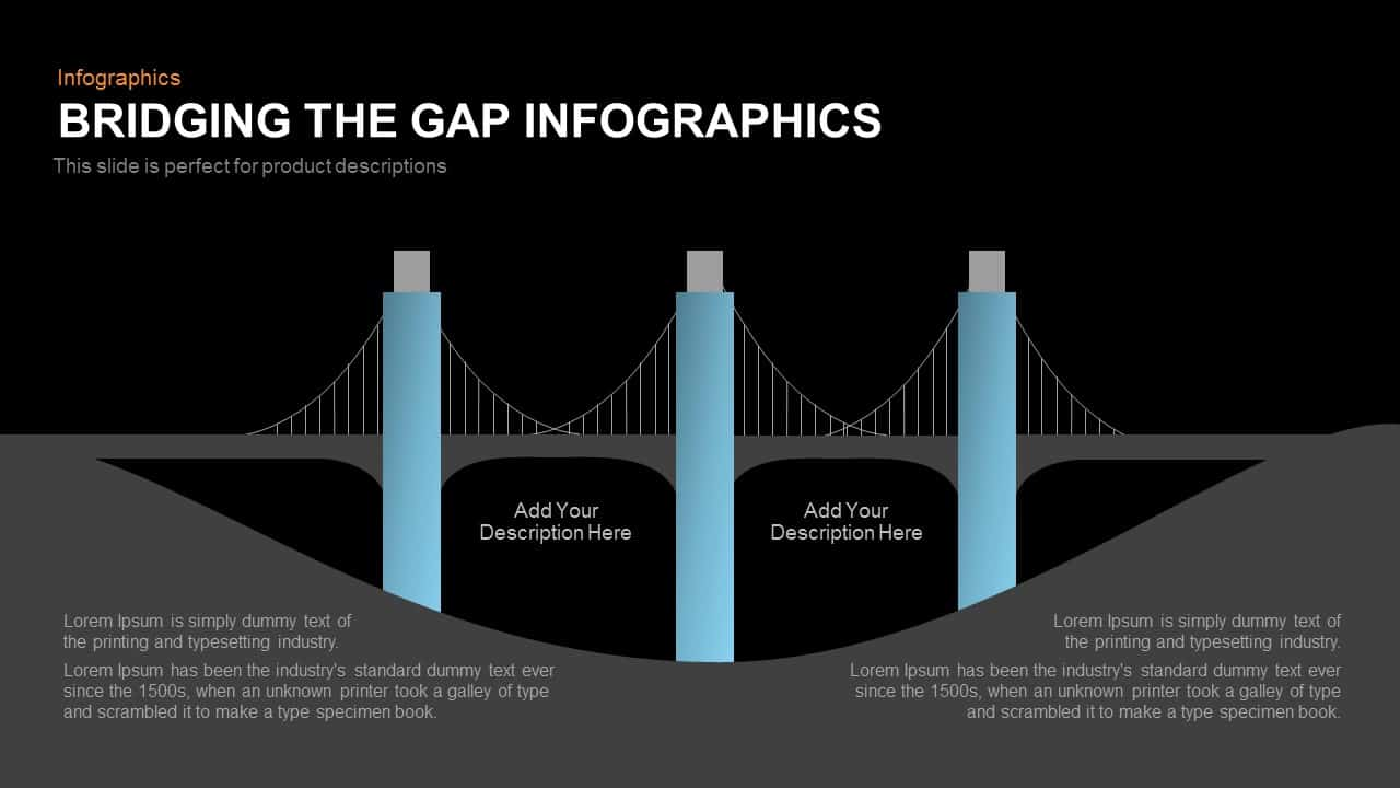 Bridging the gap infographics powerpoint template and keynote bridging the gap infographics powerpoint template toneelgroepblik Image collections