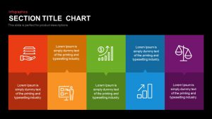 Section Title Chart PowerPoint Template and Keynote Slide