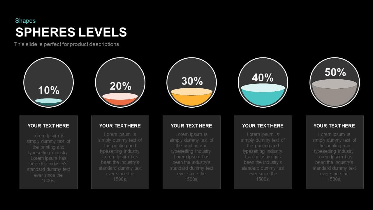 Spheres Levels Powerpoint and Keynote template - SlideBazaar