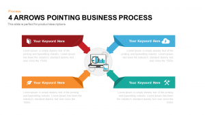 4 Arrows Pointing Business Process PowerPoint and Keynote