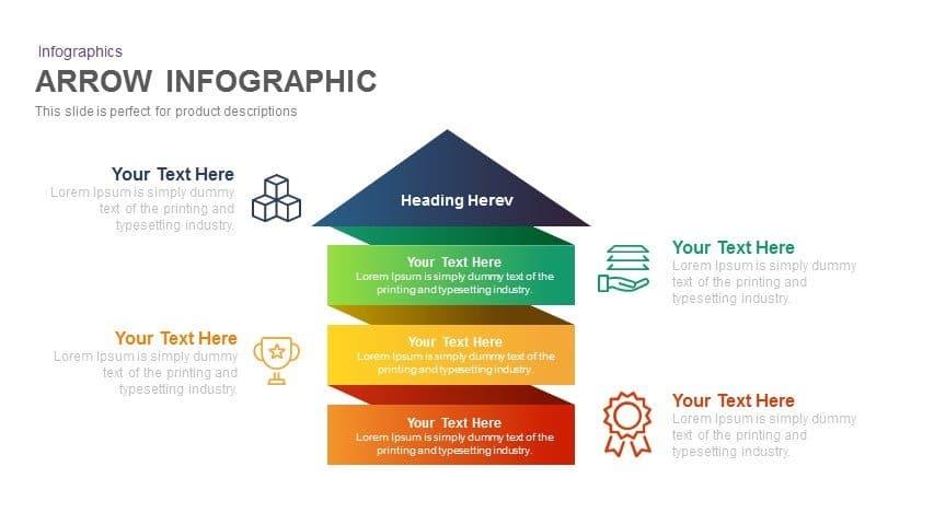 arrow infographic powerpoint and keynote template slidebazaar