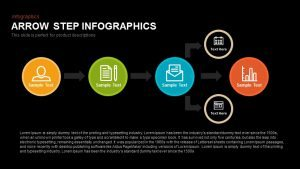 Step Infographics Arrow PowerPoint Template and Keynote Slide