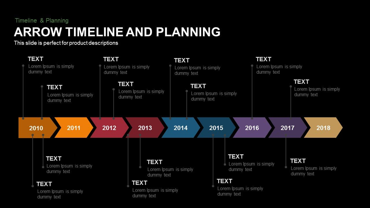 Arrow timeline and planning powerpoint and keynote template arrow timeline and planning toneelgroepblik Gallery