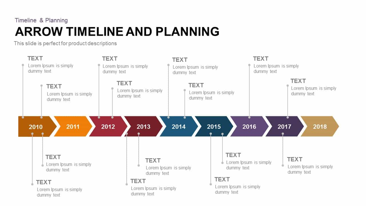 Arrow timeline and planning powerpoint and keynote template arrow timeline and planning powerpoint and keynote template toneelgroepblik Gallery