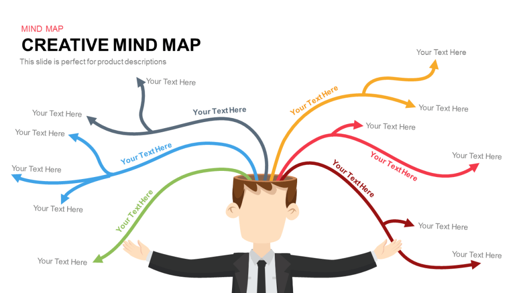 creative mind map powerpoint and keynote template | slidebazaar, Powerpoint templates