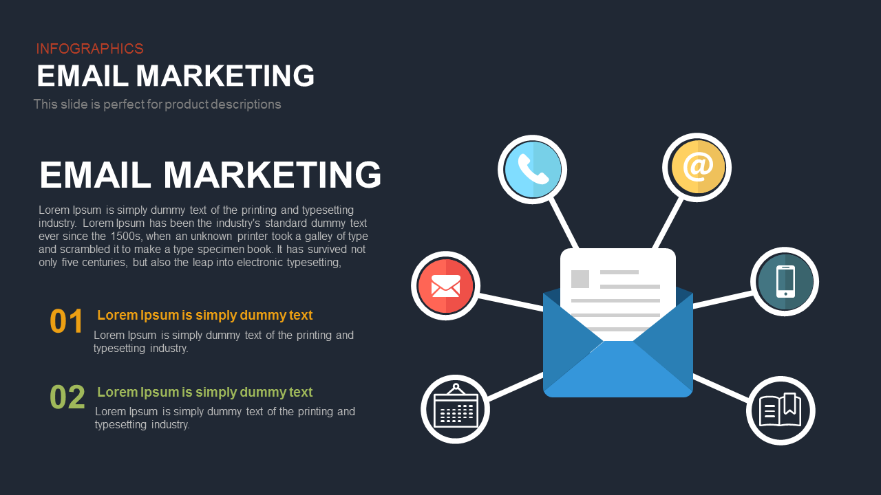 Email Marketing PowerPoint Presentation Template and Keynote