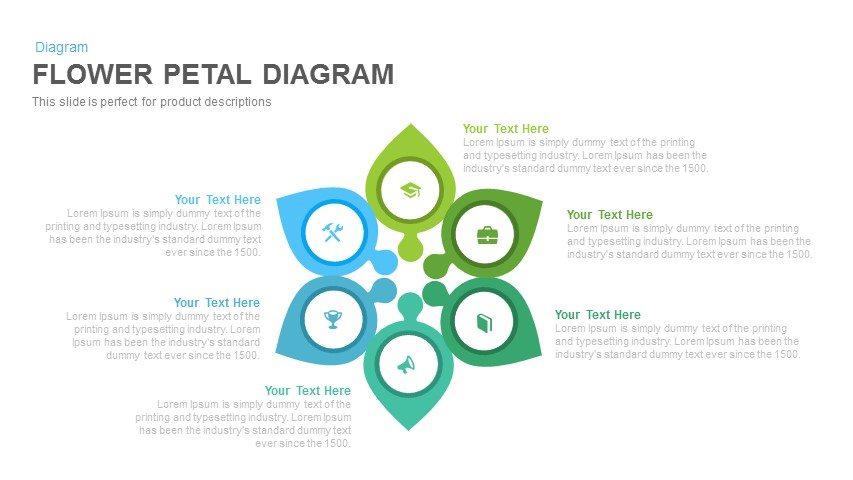 Flower Petal Diagram Powerpoint and Keynote template