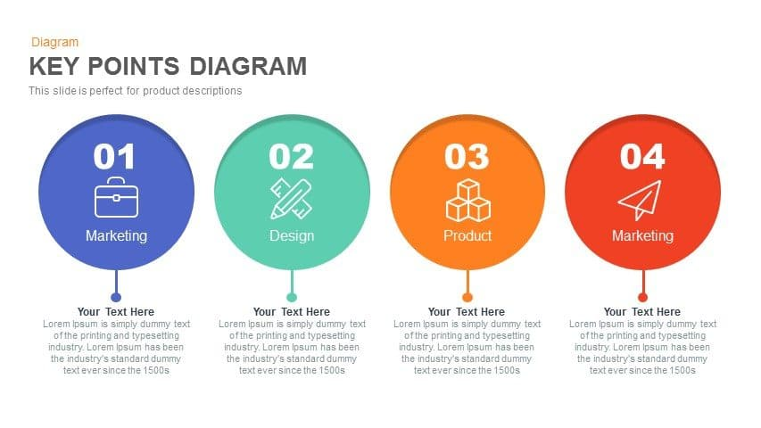 Key Points Diagram Powerpoint and Keynote template