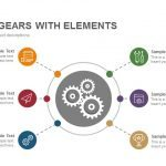 Process Gears with Elements Powerpoint and Keynote template