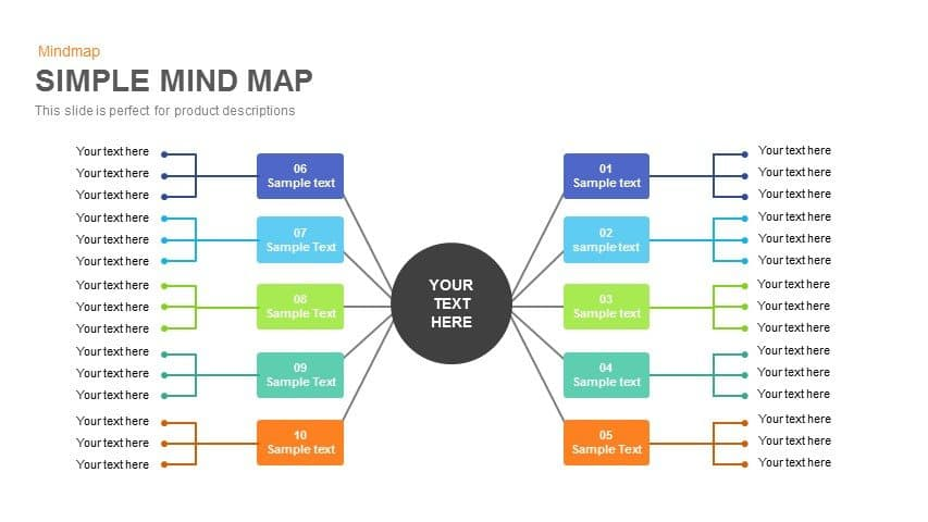 Simple Mind Map Powerpoint And Keynote Template