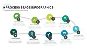 9 Process Stage Infographics PowerPoint Template and Keynote