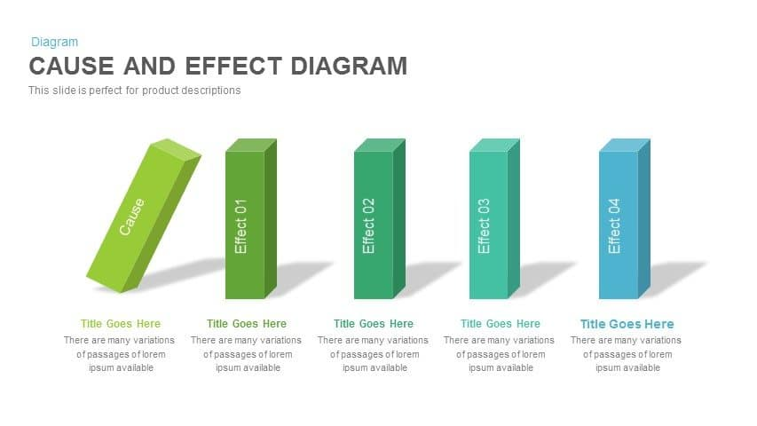 Cause And Effect Diagram Powerpoint Keynote Template