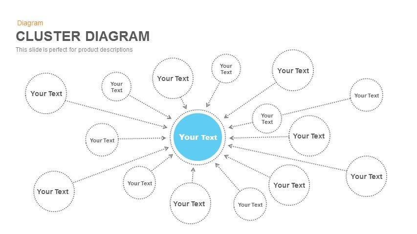 Cluster Diagram Powerpoint and Keynote Slide