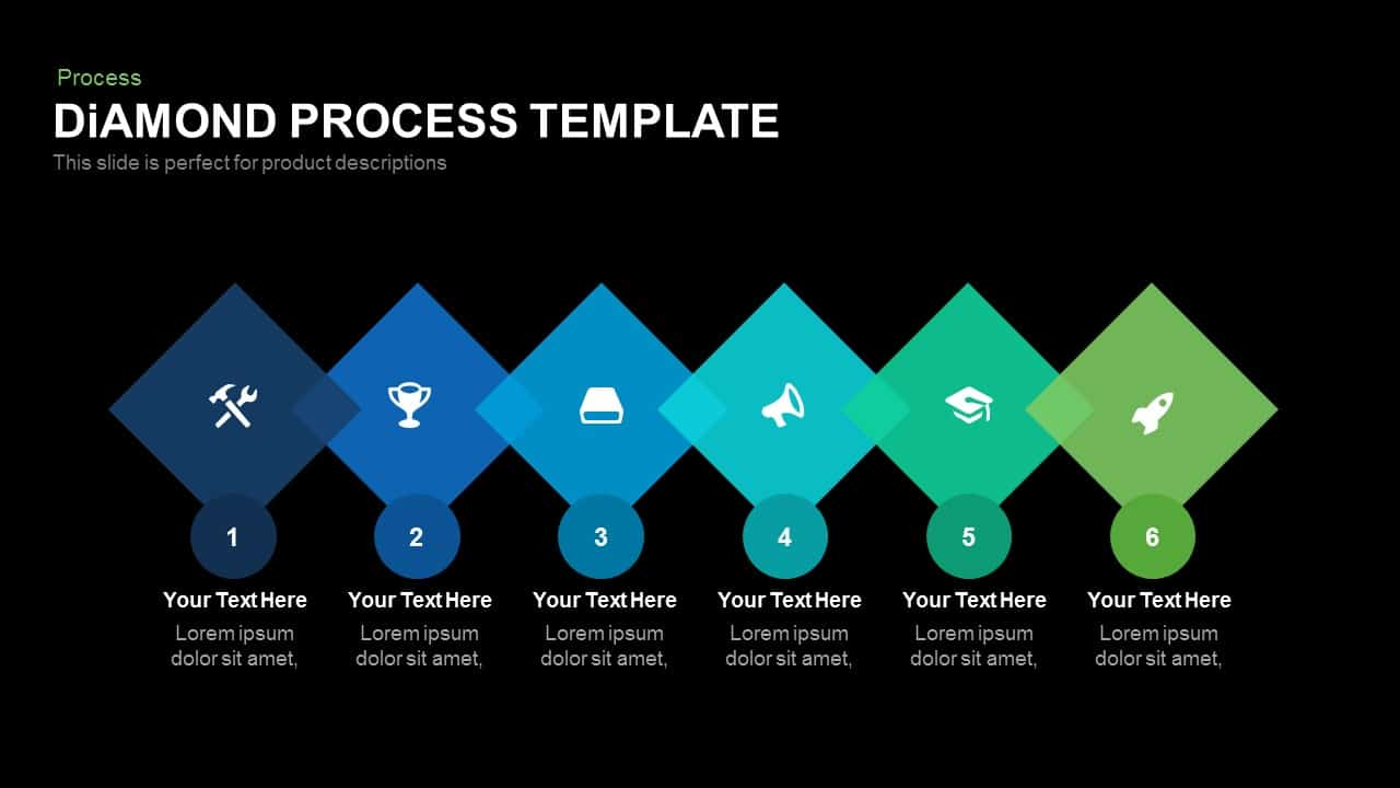 diamond process powerpoint template and keynote slidebazaar