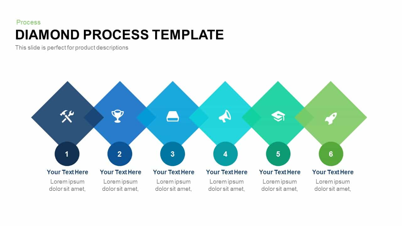 Diamond Process Template Powerpoint and Keynote template