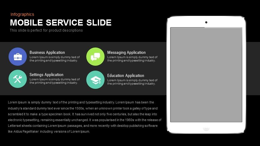 Mobile Service Powerpoint and Keynote Slide
