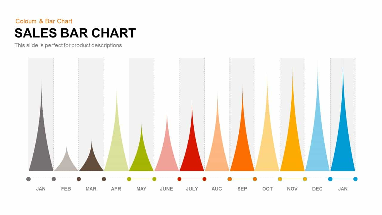 Sales Bar Chart PowerPoint Template and Keynote