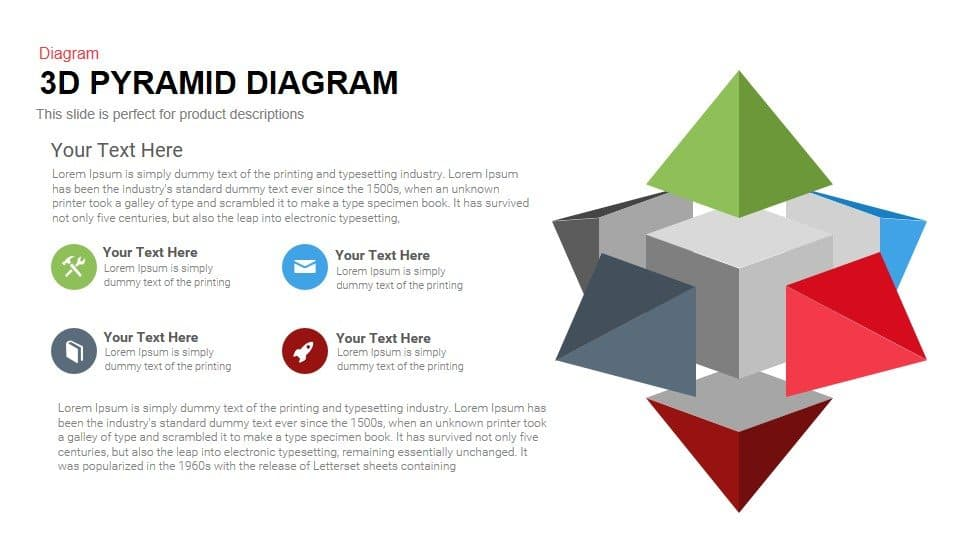3d Pyramid PowerPoint Template Diagram and Keynote Slide